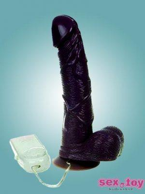 Realist Vibrating Black Dildo- sextoyinhyderabad.com