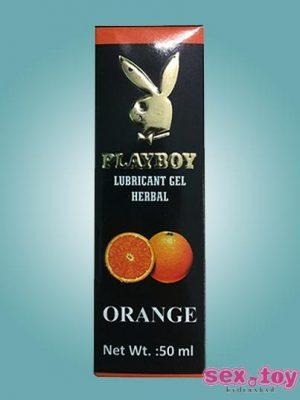 Playboy Lubricant Water Based Gel Orange Flavoured - sextoyinhyderabad.com